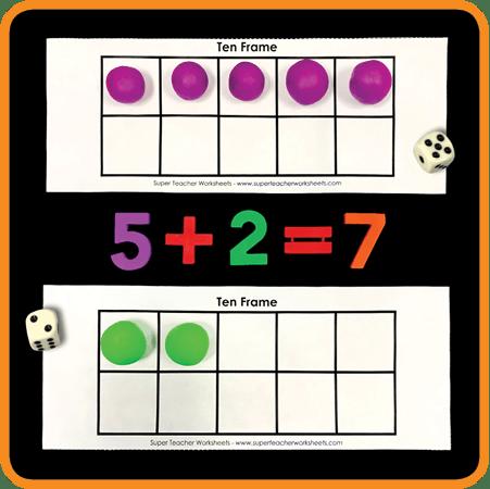 Play Dough Ten-Frames
