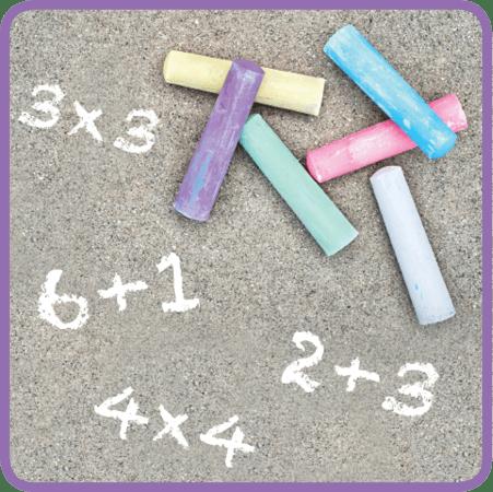 Sidewalk Chalk Math