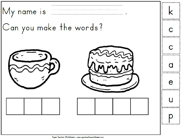 Phonics BuildaWord – Kindergarten Phonics Worksheet