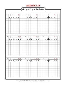 View/Download: Graph Paper Division: 2-Digit Divisors Preview # 1 ...