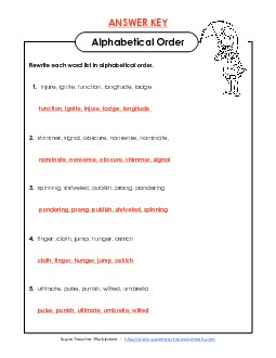 View/Download: Alphabetical Order Worksheet (E-2) Preview