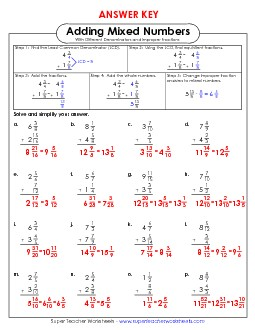 View/Download: Adding Mixed Numbers 4 (Unlike Denominators ...