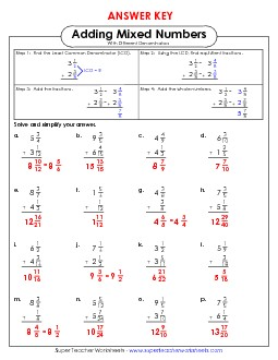 View/Download: Adding Mixed Numbers w/ Unlike Denominators ...