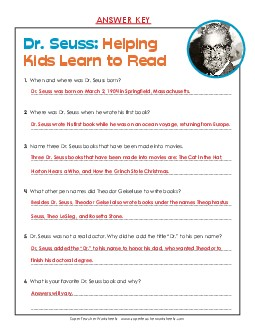 View/Download: Dr. Seuss (Biography) Preview # 1 Preview # 2 ...