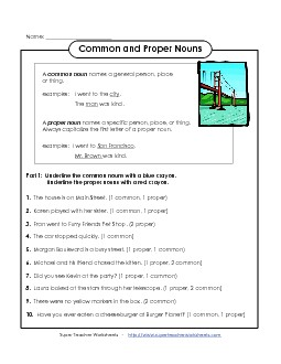 View/Download: Common and Proper Nouns Preview # 1 ...