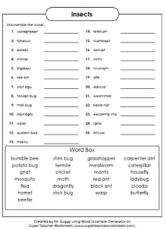 Worksheets Super Teacher Worksheets Science puzzle generators word scramble generator