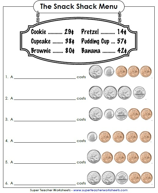 Counting Coins Canadian – Teaching Money Worksheets