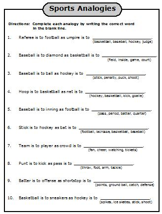 Analogies Worksheet Answers - The Best and Most Comprehensive ...