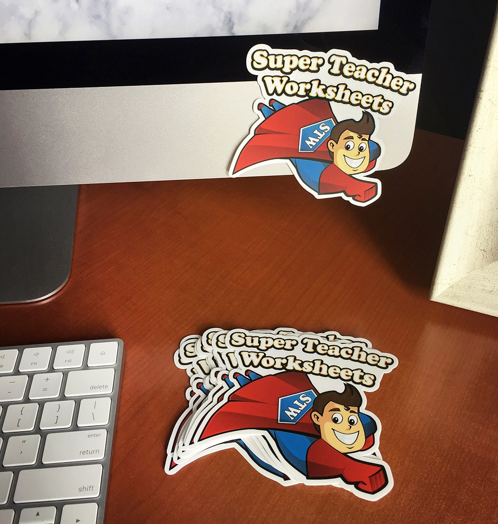 Free Sticker - Super Teacher