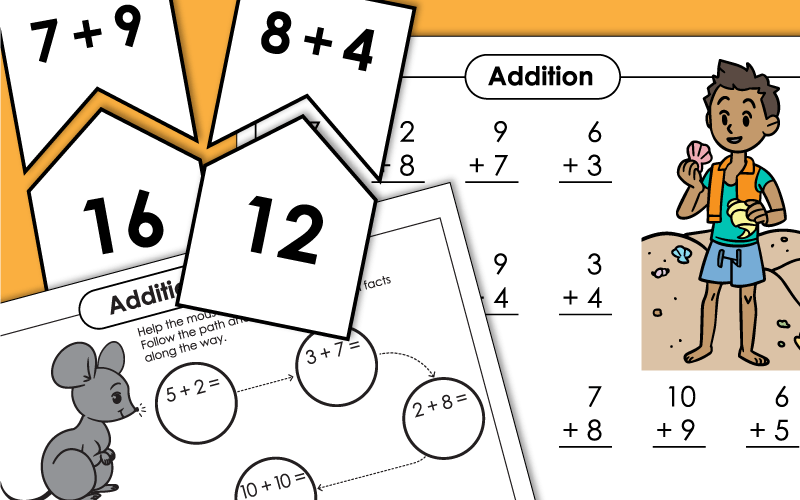 Basic Addition Facts Worksheets