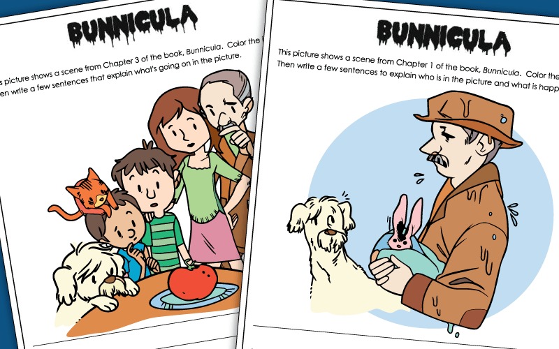 book bunnicula Worksheets