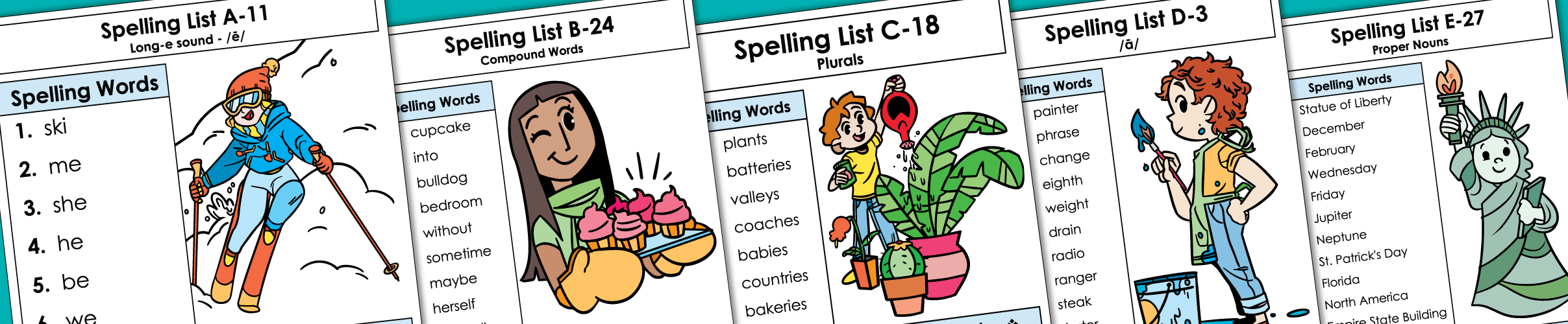 Spelling Lists and Worksheets