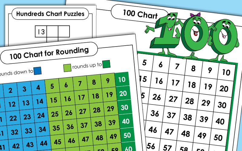 Printable Hundreds Charts