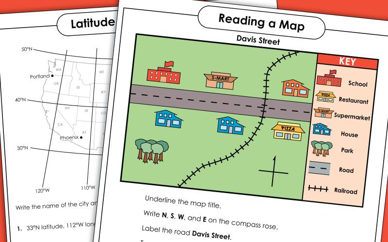 Map Skills - Worksheets