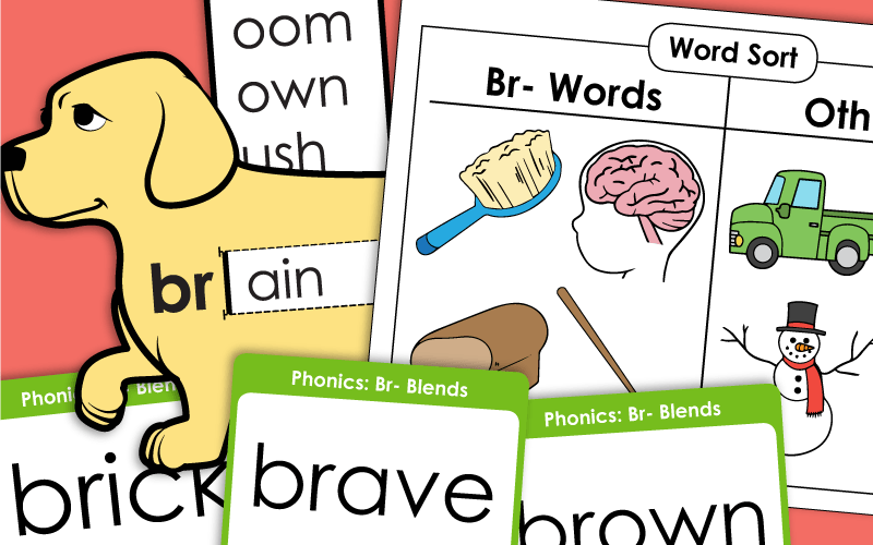 Phonics Blends Worksheets: BR-