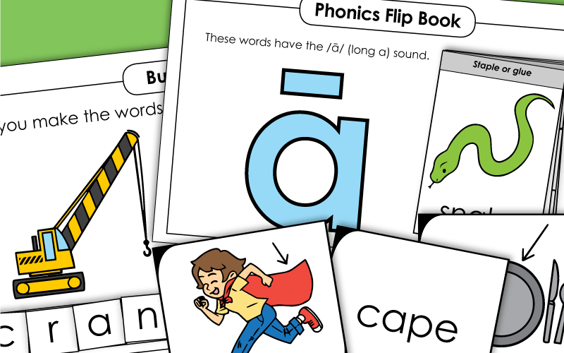phonics long a Worksheets