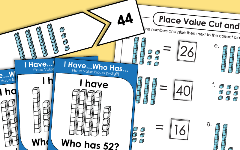 place value 2 digits Worksheets