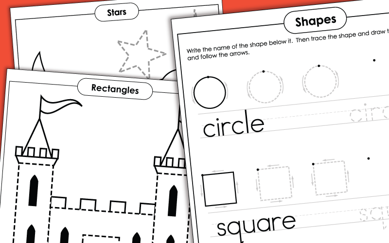 Kindergarten Worksheets: Basic Shapes