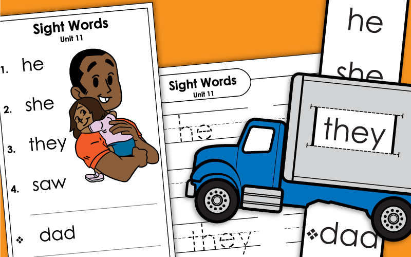 sight words unit 11 Worksheets