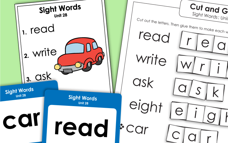 sight words unit 28 Worksheets