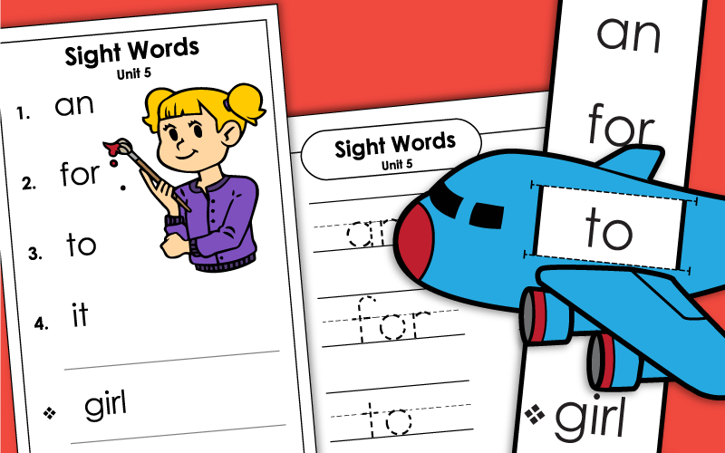 sight words unit 5 Worksheets