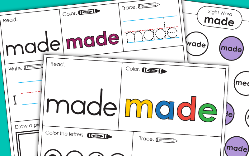 Sight Word: made