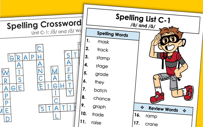 spelling c1 Worksheets