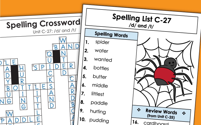 spelling c27 Worksheets