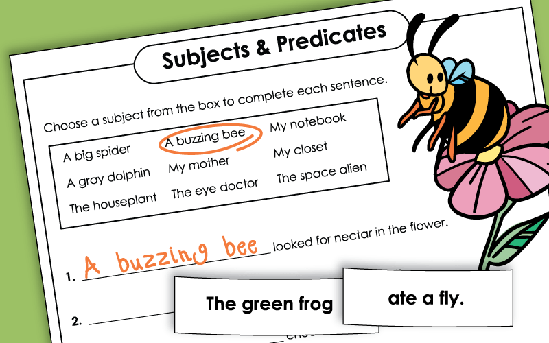 subjectpredicate Worksheets