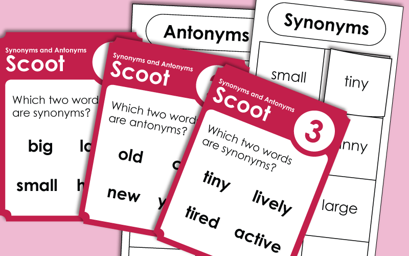 Synonym and Antonym Worksheets