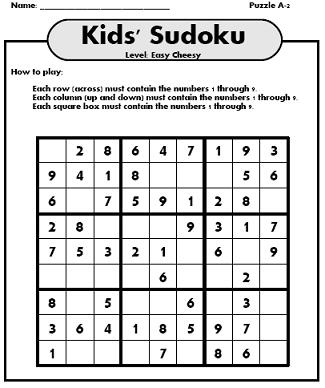 printable sudoku: Easy Printable Sudoku Sheets