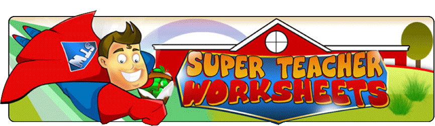 Worksheets For Teachers Super Teacher Worksheets