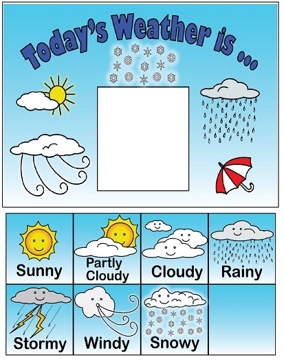 weather chart for elementary classrooms. Black Bedroom Furniture Sets. Home Design Ideas