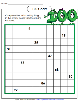 100th Day of School Worksheets