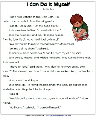 Comprehension Worksheets First Grade 1st grade reading comprehension ...
