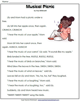 Printables Reading Passages Worksheets 1st grade reading comprehension worksheets worksheet