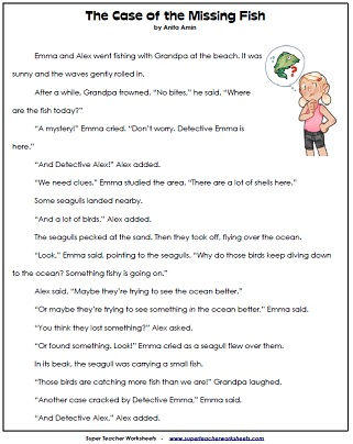 Printables Short Reading Comprehension Worksheets reading comprehension worksheets 2nd grade passages