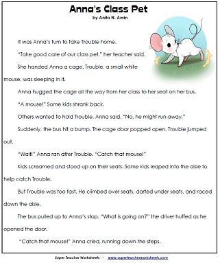 Reading Comprehension Worksheets - 2nd Grade