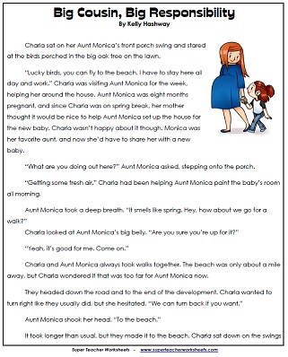 Printables 3rd Grade Reading Worksheets Printable reading comprehension 4th grade worksheets worksheets