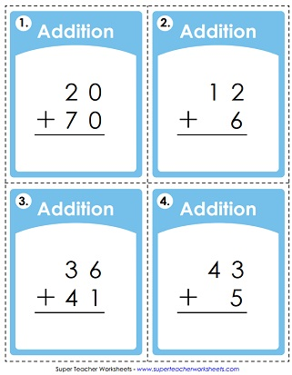 addition worksheet no regrouping - Addition Worksheet