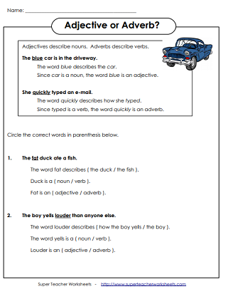Adjective worksheets adjectives worksheets adjectives and adverbs printables ibookread PDF