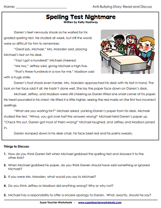 Anti-Bullying Printable Worksheets