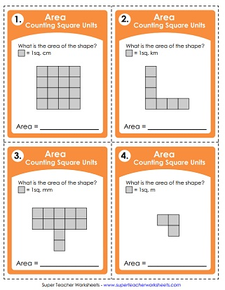 Counting Square Units (Task Cards)