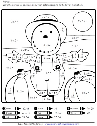 math worksheet : autumn worksheets : 4th Grade Halloween Math Worksheets