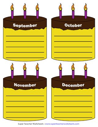 Happy Birthday Chart Printable