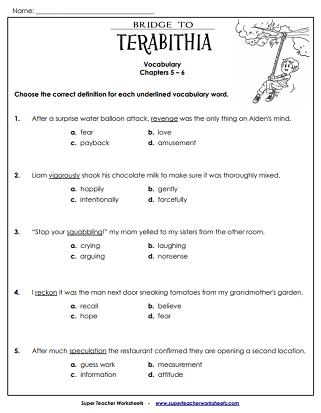 Character Analysis Bridge To Terabithia Teaching Resources ...
