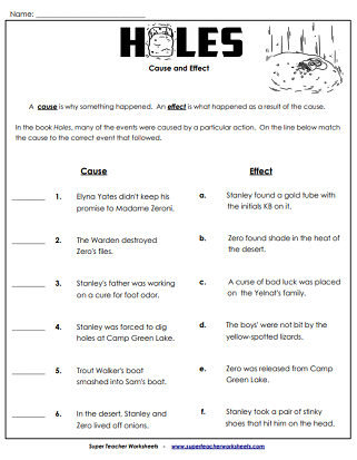 Holes (Chapter Book) Worksheets