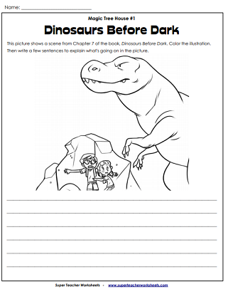 dinosaurs before dark worksheets activities. Black Bedroom Furniture Sets. Home Design Ideas