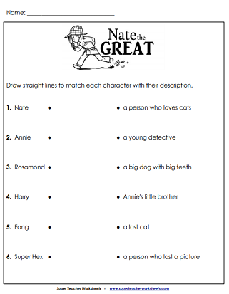 Nate the Great - Printable Worksheets