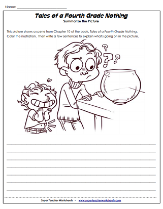 Literacy Unit Worksheets (Tales of a Fourth Grade Nothing)